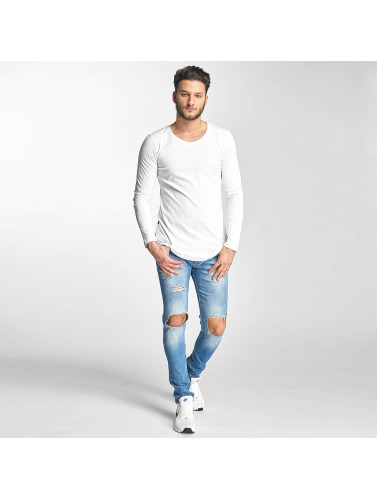 Red Bridge Hombres Camiseta de manga larga Taschkent in blanco