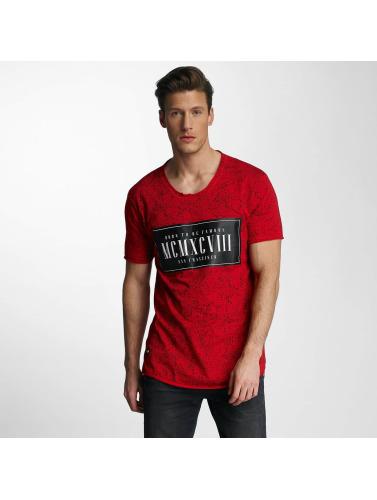 Red Bridge Hombres Camiseta Born To Be Famous in rojo