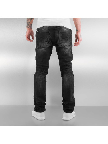 Red Bridge Hombres Jeans ajustado Quilted in negro