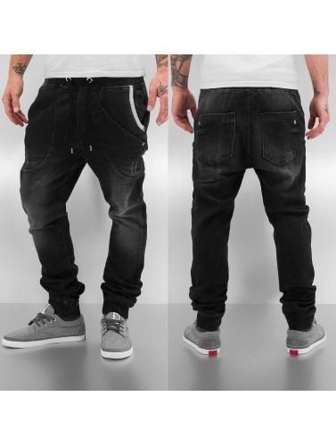 Red Bridge Herren Jogginghose Jeans in schwarz
