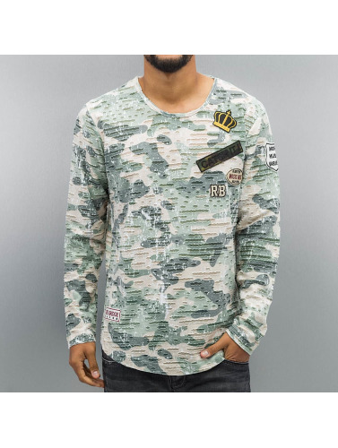 Red Bridge Herren Longsleeve Combat in khaki