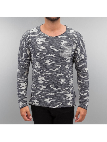 Red Bridge Herren Pullover Knit Camo in blau
