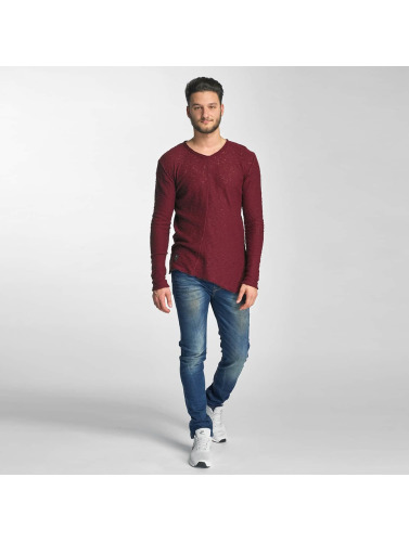 Red Bridge Herren Pullover Asymmetrical Line in rot