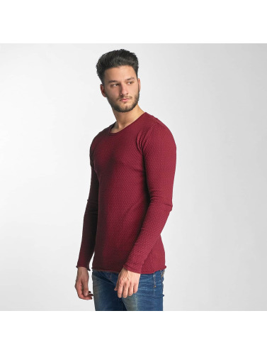 Red Bridge Herren Pullover Checkered Royalty in rot