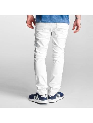 Red Bridge Herren Skinny Jeans Ripped Biker in weiß