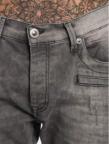 Red Bridge Herren Slim Fit Jeans Used in grau