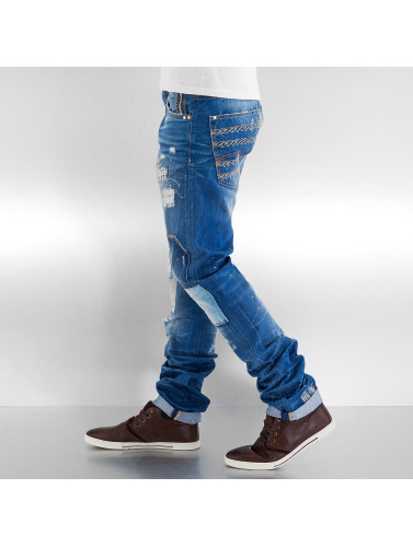 Red Bridge Herren Straight Fit Jeans Patches in blau