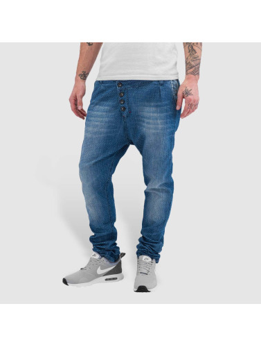 Red Bridge Herren Straight Fit Jeans Dots in blau