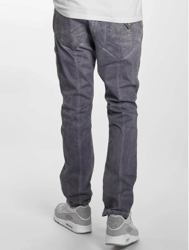 Red Bridge Herren Straight Fit Jeans Emblem in grau