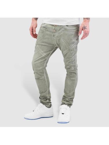 Red Bridge Herren Straight Fit Jeans Emblem in khaki