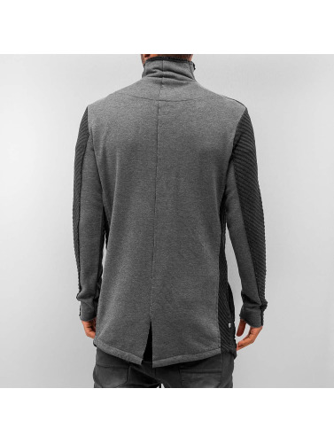 Red Bridge Herren Strickjacke Modern in grau