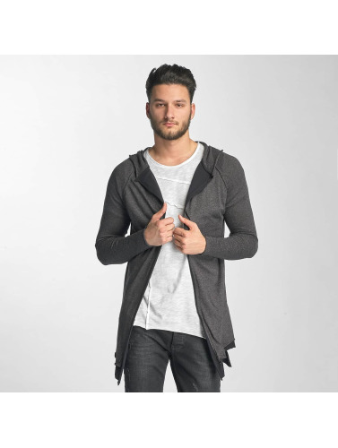 Red Bridge Herren Strickjacke Two Tone in grau