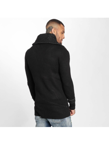 Red Bridge Herren Strickjacke Mailand in schwarz