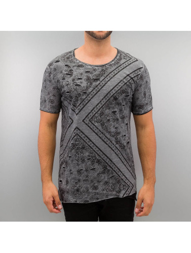 Red Bridge Herren T-Shirt Paisley in grau