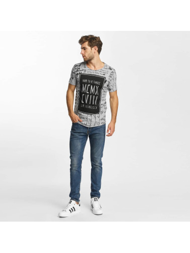 Red Bridge Herren T-Shirt Born To Be Famous in grau