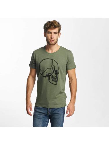 Red Bridge Herren T-Shirt Stiched Skull in khaki