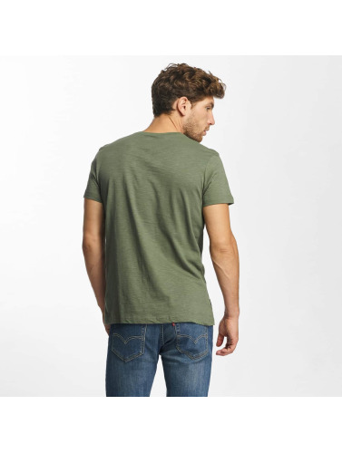 Red Bridge Herren T-Shirt Stiched Skull in khaki