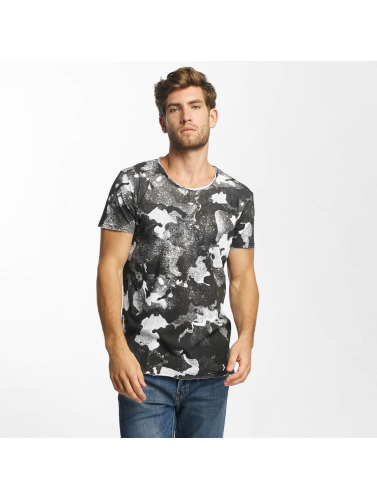 Red Bridge Herren T-Shirt Splatter Camo in schwarz
