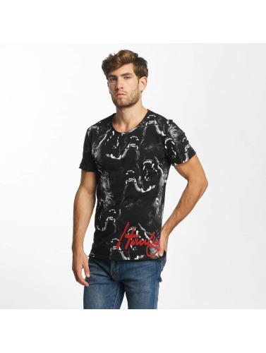 Red Bridge Herren T-Shirt Howling Wolf in schwarz