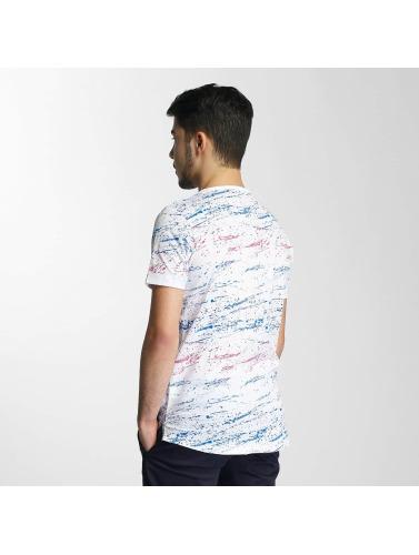 Red Bridge Herren T-Shirt Splatter Pocket in weiß