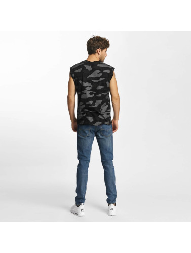 Red Bridge Hombres Tank Tops Contrast Effect Camouflage Pixel in negro