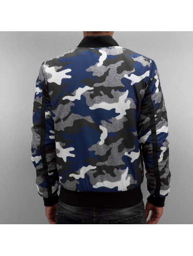 Red Bridge Herren Übergangsjacke Camo Bomber in blau