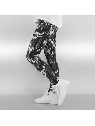 Reebok Damen Legging R PES AOP in schwarz