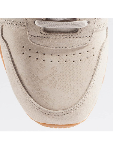 Reebok Damen Sneaker Cuir Classique Propre Exotique En Beige