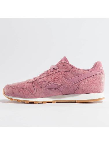 Reebok Damen Sneaker Classique En Cuir Propre Exotique À Rosa