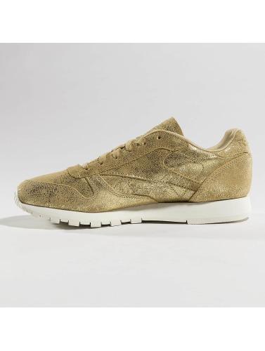 Reebok Mujeres Zapatillas de deporte Classic Leather Shimmer in oro
