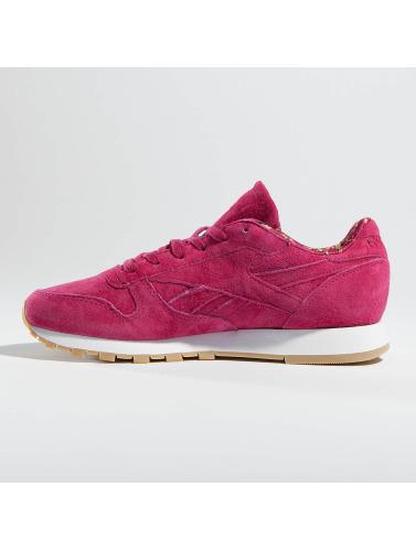 Reebok Mujeres Zapatillas de deporte Classic Leather in rojo
