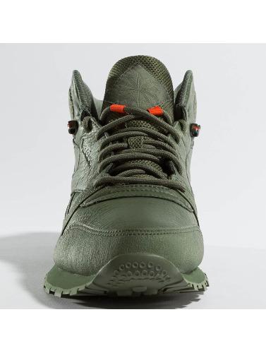 Reebok Hombres Zapatillas de deporte Classic Leather TWD Mid in verde