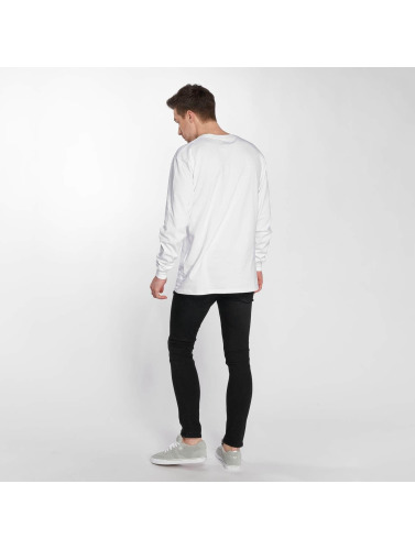 Reell Jeans Hombres Camiseta de manga larga Small Script in blanco