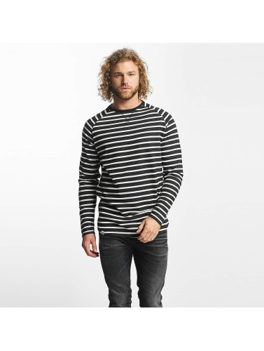Reell Jeans Hombres Camiseta de manga larga Striped in negro