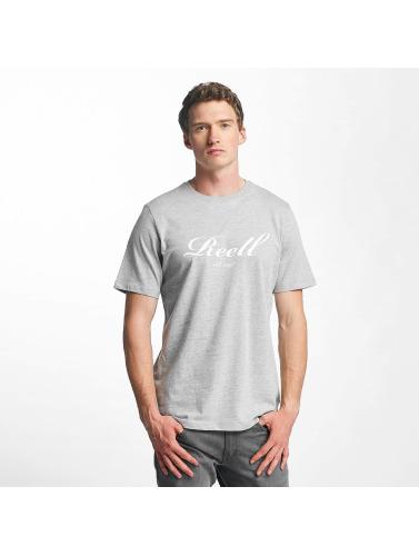 Reell Jeans Hombres Camiseta Big Script in gris