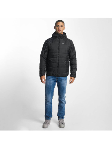 Reell Jeans Hombres Chaqueta de entretiempo Hooded Stitch in negro