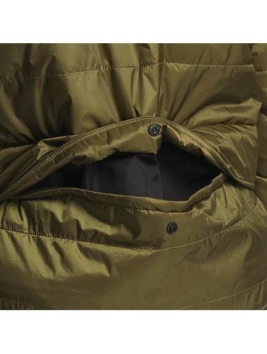 Reell Jeans Hombres Chaqueta de entretiempo Hooded Stitch in oliva