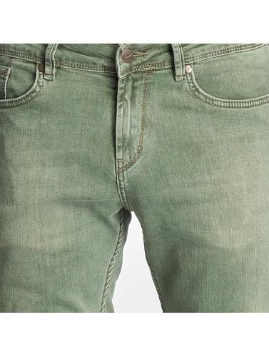 Reell Jeans Hombres Jeans ajustado Spider in oliva