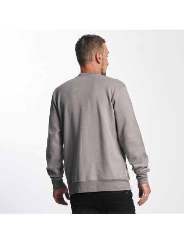 Reell Jeans Hombres Jersey Stitch Crewneck in gris