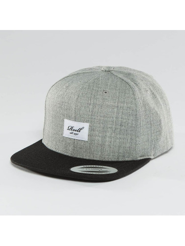 Reell Jeans Snapback Cap Pitchout 6 Panel in grau