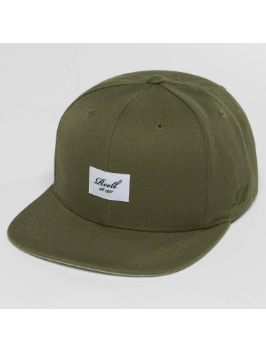 Reell Jeans Snapback Cap Base in olive