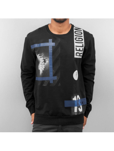 Religion Herren Pullover Blue Hazardous in schwarz