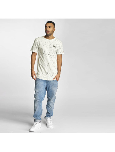 Rocawear Hombres Camiseta Dotted in blanco