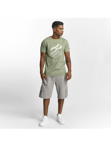Rocawear Hombres Camiseta Triangle in gris