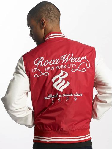 Rocawear Hombres Chaqueta de béisbol College Jacket in rojo