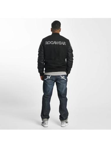 Rocawear Herren College Jacke Retro Sport in schwarz
