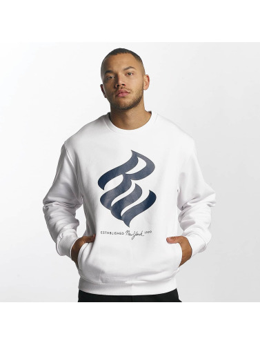 Rocawear Hombres Jersey Big Logo in blanco
