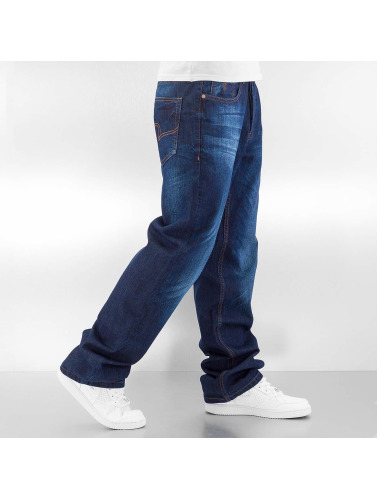 Rocawear Herren Loose Fit Jeans Anniv Stitching in blau