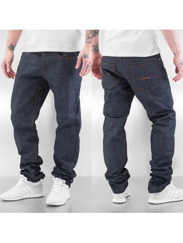 Rocawear Herren Straight Fit Jeans Leather Patch in grau