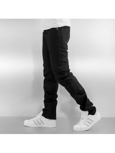 Rocawear Herren Straight Fit Jeans Relaxed Fit in schwarz